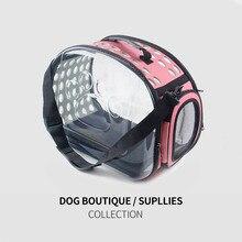 Горячая Распродажа модная сумка для животных кошка прозрачная сумка маленькая собака переноска сумка переносная сумка для кошек складная сумка через плечо дорожная сумка для щенка