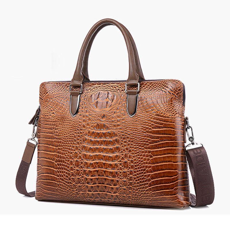 messenger bags Crocodile pattern fashion handbags Genuine Leather Business shoulder bag totes free shipping cossloo women genuine sheepskin leather handbags messenger bags real leather handbags fashion large shoulder bags free shipping