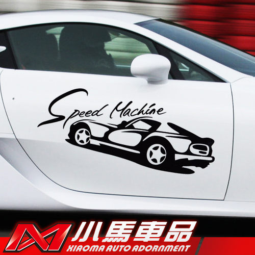 Product pictures car styling speed machine personalized modification decorative sticker reflective car sticker for car door cruze ford