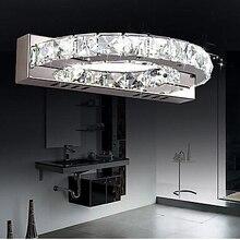 Современный настенный светильник для ванной комнаты, светодиодный настенный светильник для дома, зеркальный Хрустальный настенный светильник Lampe Murale Lampara D формы L30cm W16cm