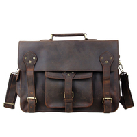 ROCKCOW Hotsale Crazy Horse Leather Briefcase Laptop Messenger Bag Fashion Style 2014 New Design Men's Shoulder Bag 7200