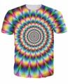 2016 New Arrive 3d Fashion Clothing Women Men tees Into the Rainbow T-Shirt psychedelic Colorful t shirt Summer Style camisetas