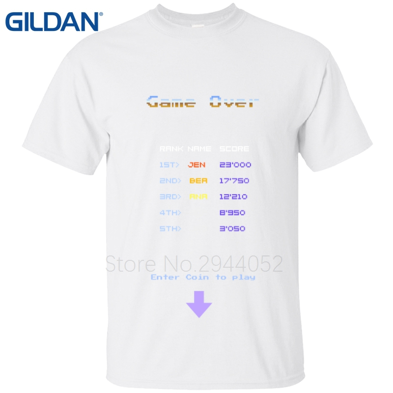 2200c875b29 Space Invaders 2 old school classic arcade game tee shirts Splicing Letter  Hip camisa t shirts O Neck 100% cotton-in T-Shirts from Men s Clothing on  ...