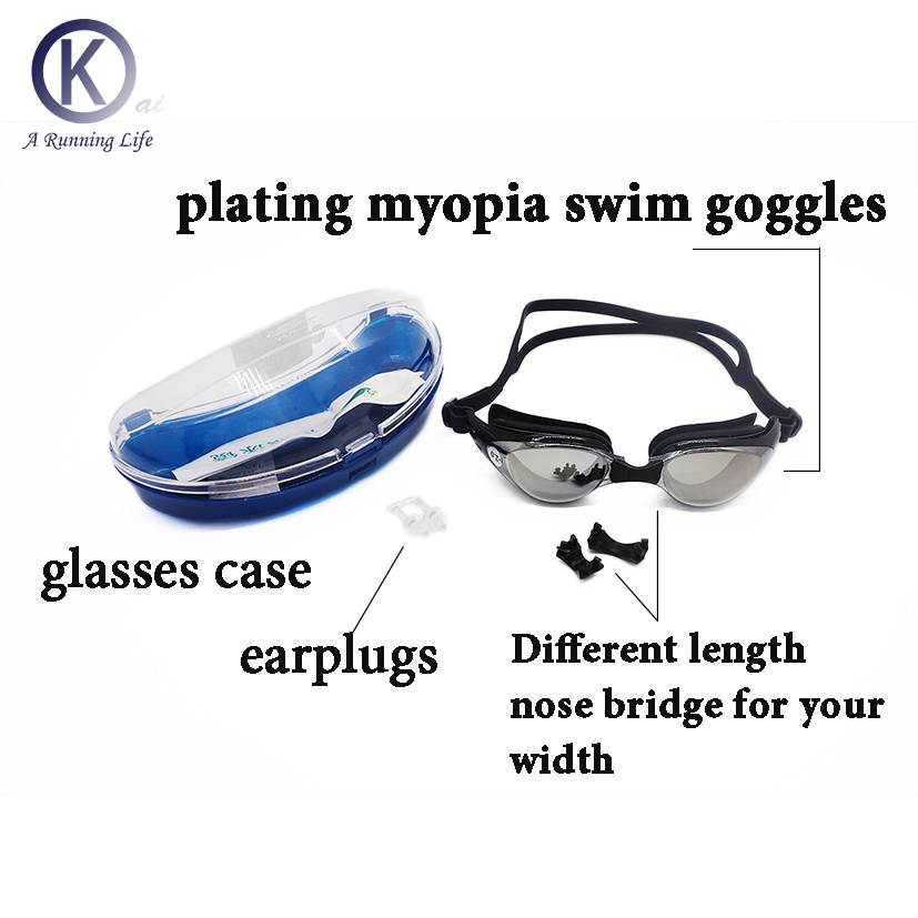 786791422a7a Top Quality Myopia Swimming Goggles Nearsighted   shortsighted HD Swimming  Glasses diopter Spectacles plating lens Customized-in Swimming Eyewear from  ...