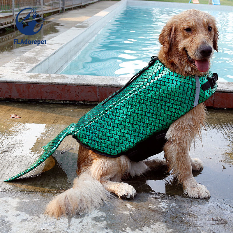 Pet dog safety clothes vest Mermaid Costume Waterproof Small Large Dog Life Jacket Fido  ...