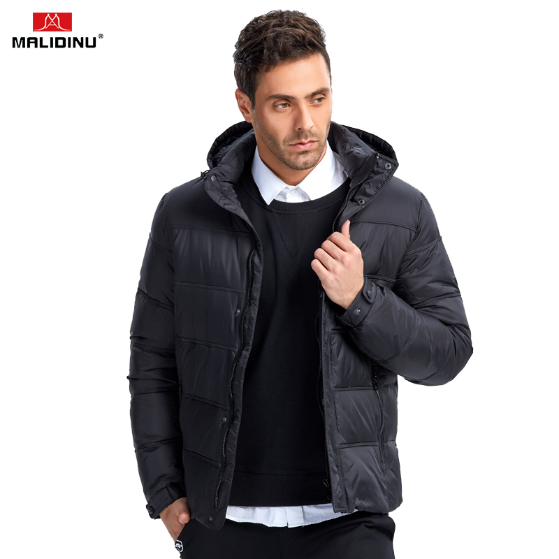 MALIDINU 2019 Men Down Jacket Thick Winter Down Coat High Quality 70%White Duck Down Men Fashion Down Parka Brand Russian Size