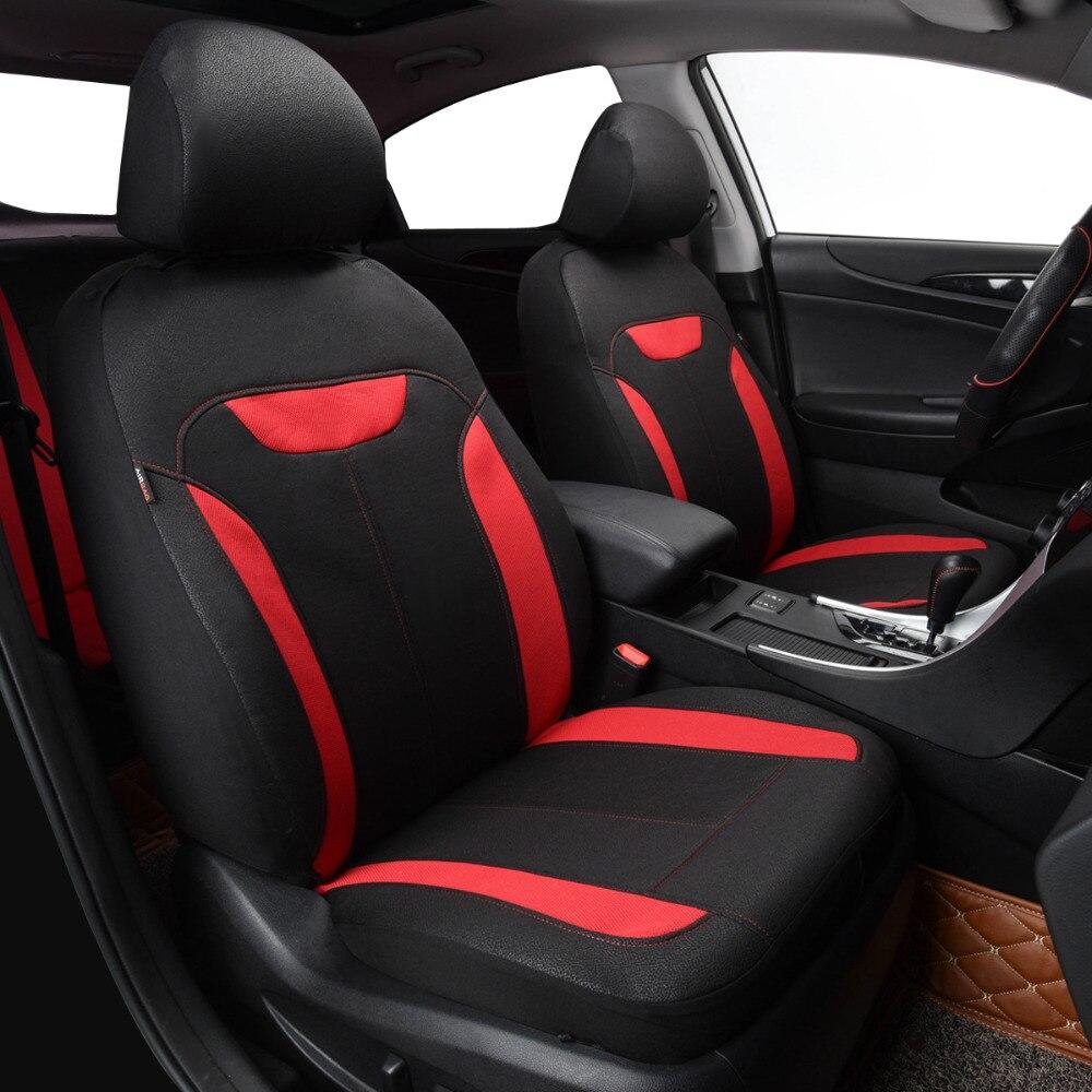 Autostoelhoezen aritifical lederen mesh stof zwart rood grijs blauw - Auto-interieur accessoires - Foto 6