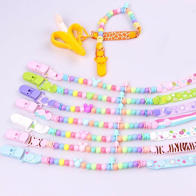 Mode Nyfödd Baby Pacifier Clips Kedja Baby Nippelhållare DIY Round - Äta och dricka - Foto 3