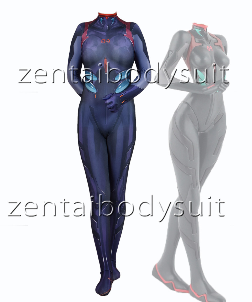 Rei Ayanami Neon Genesis Evangelion Superhero Lycra Zentai Rei 3,0 Body Halloween Cosplay Party anzug kostenloser lieferung