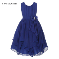 YWHUANSEN Chiffon Summer Girls Clothing Popular Summer Dresses Girls Fashion Dress Kids Party Dresses For Girls