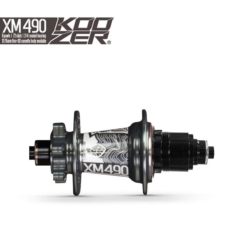 Moyeu de vélo arrière Koozer XM490 moyeux de corps de Cassette Sram XD scellés 4 VTT de roulement moyeu arrière 10*135mm QR 12*142mm à travers 32 trous