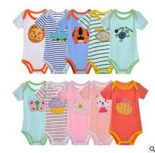 2016 5pcs/lot 100%cotton Baby Rompers Newborn Clothes Short Sleeve Cotton Baby Boy Girl Rompers Baby Clothing Next Baby Jumpsuit