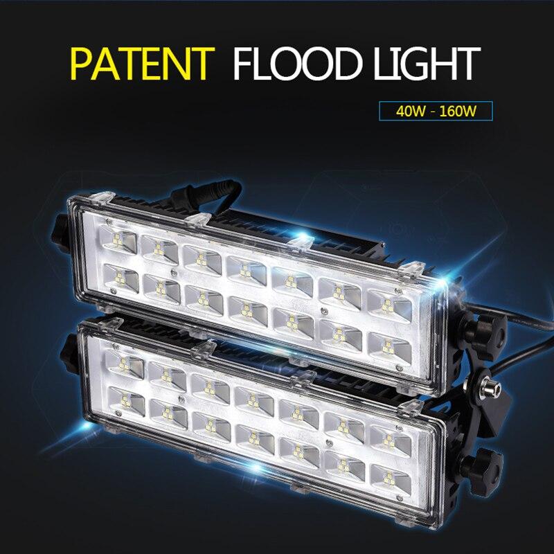 Outdoor IP67 Garden LED Flood Light Assembling Module Tunnel Spotlight 40W 80W 120W 160W Floodlight
