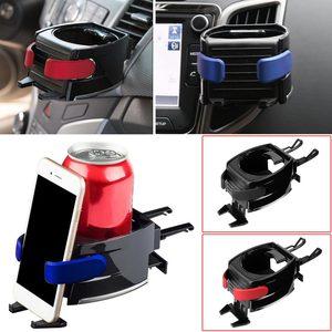 Image 3 - Bekerhouder portavasos para coche, soporte para botella de agua, salida de ventilación de aire, soporte para teléfono, portavasos negro para bebidas, Coche