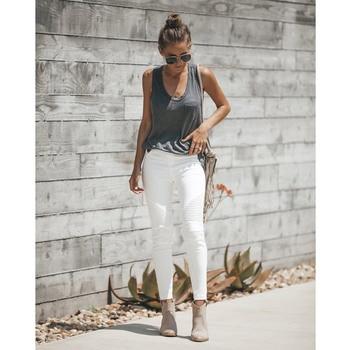 Curvas blanco de mujer Jeans vaqueros Mujer cintura alta Vaqueros Jeggings Moto Shaping Skinny Stretch Biker Jeans Leggings Juniors cool denim