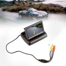 Прочный и практичный Автомобильный складной дисплей 4,3 дюйма, Hd визуальная система заднего вида, Av входной экран