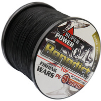 Hot Sale Supper Strong 1000M Braided Wires 100 Pe Fiber Fishing Line Spectra Black 4 Strands