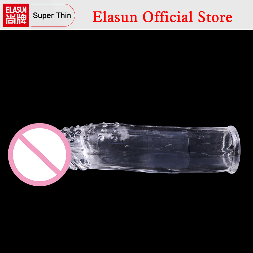 1PC Reusable Super Extended Big Penis Sleeve Dick Extender Cock Enlargement Extension Condom for Men Gay Pumps Enlargers rubynovich серьги с подвесками кольцами