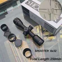 Стрелок 6x32 короткие тактические охотничьи оптические прицелы CAZA 1 дюймов труба Mil-dot Сетка оптические прицелы