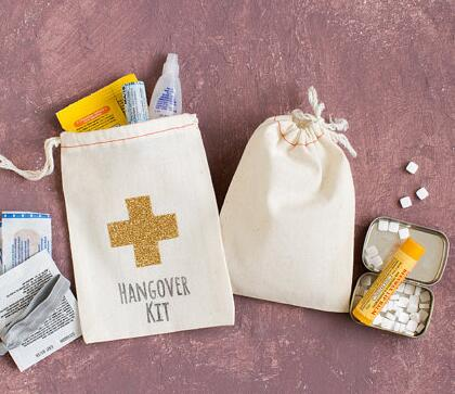 Custom Gold Cross Wedding Birthday Jewelry Favor Muslin Gifts Bags Bachelorette Baby Shower First Aid Hangover Kits In Gift Wrapping Supplies From