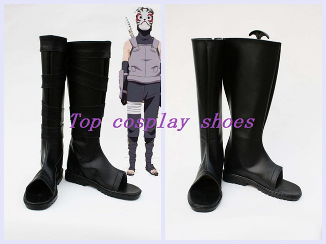 Naruto Konan Cosplay Black Ops Member anbu Kakashi Cosplay Boots shoes  Ninja custom-made for