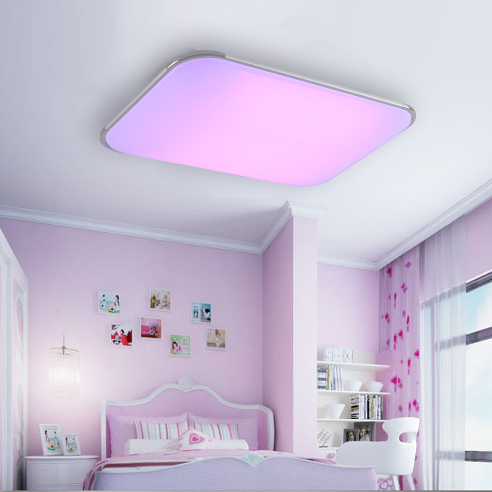Modern Led Ceiling Lamp Remote Group Rgb Ceiling Lights For