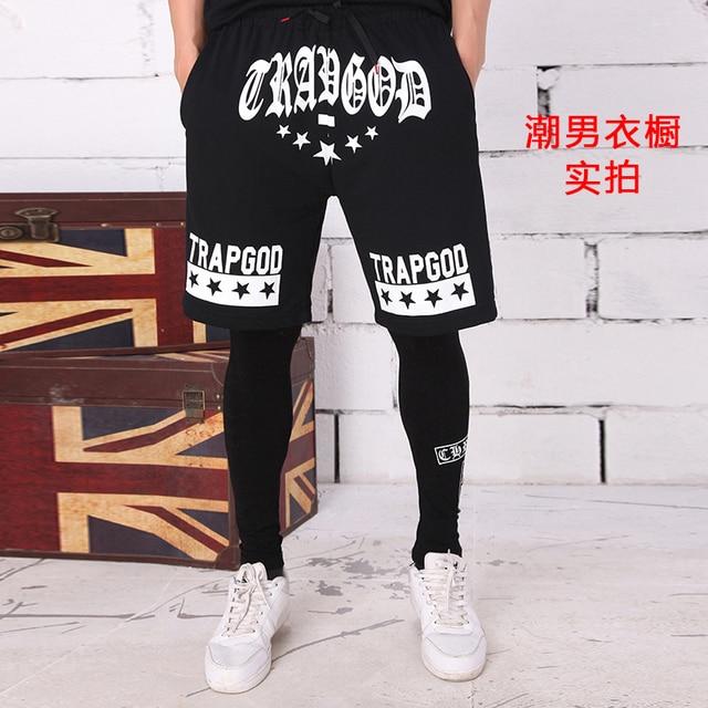259f4e1cc638 Male casual street dance wear boy shorts black hip hop shorts skateboard hip  hop shorts cotton shorts men pockets