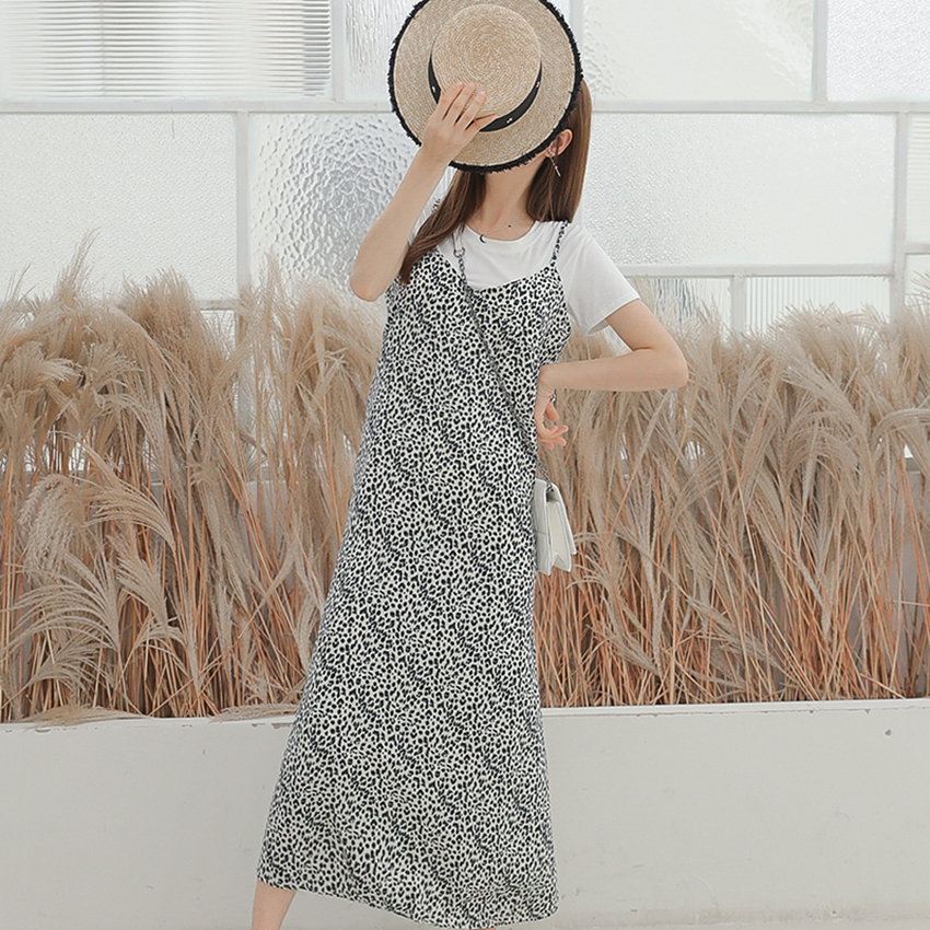 Summer maternity dress Korean fashion print dress new pregnancy loose shirt pregnant women two-piece suitSummer maternity dress Korean fashion print dress new pregnancy loose shirt pregnant women two-piece suit
