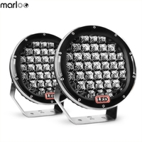Marloo 2X 9 inch 185W Round LED Work Light Roof Driving Headlight Fog Lights Off Road Spot lights for Jeep, Truck, Car, ATV, SUV