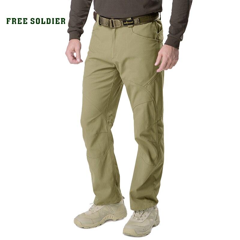FREE SOLDIER Pantalones de Trabajo Cargo para Hombres Pantalones t/ácticos repelentes al Agua al Aire Libre con Pantalones de Secado r/ápido Multibolsillos para Senderismo
