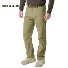FREE SOLDIER outdoor sports camping tactical military pants scratch- resistant pants with multiple pockets for men(China)