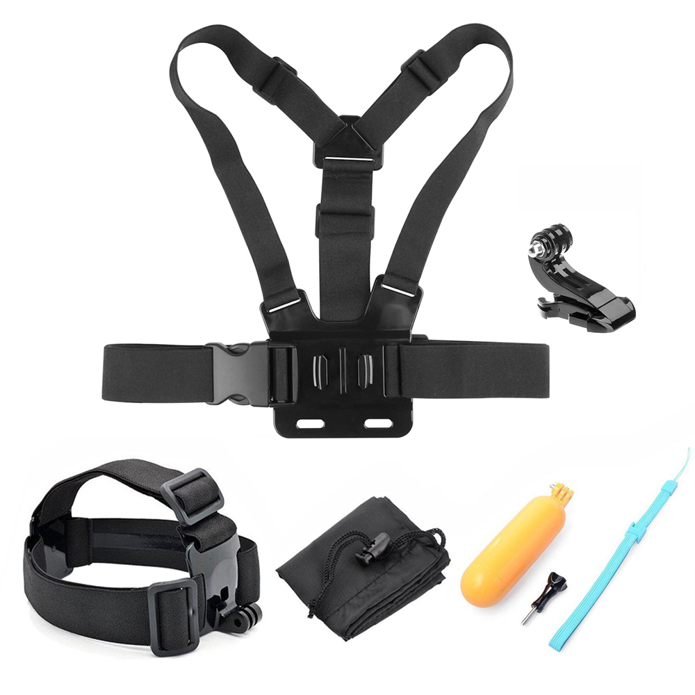 Galleria fotografica SHOOT Action Camera Accessories for GoPro Hero 6 5 4 3 Xiaomi Yi 4K SJCAM SJ7 Eken h9 Go Pro Mount Grip Harness Chest Head Strap