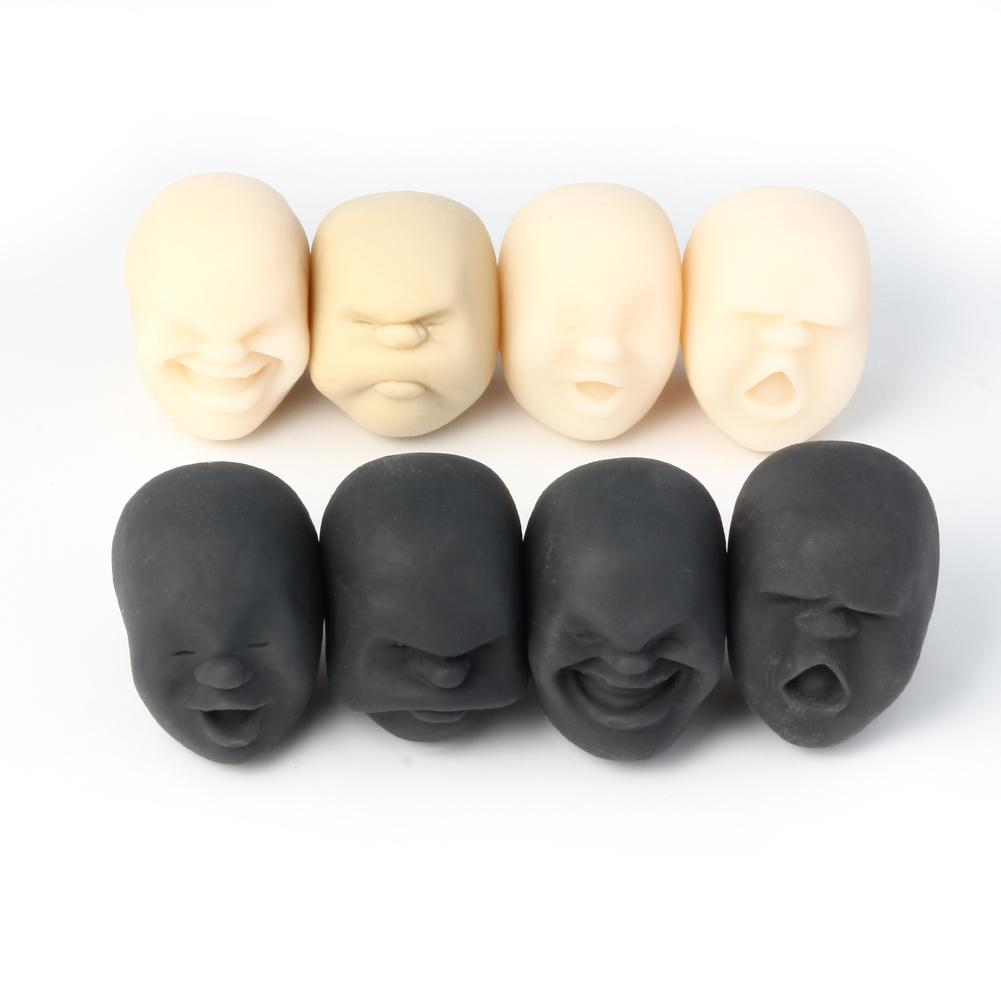 1 Pc Squeeze Human Emotion Face Vent Ball Toys Resin Relax For ADHD Adult Kids Squeeze Toy Anti-stress Ball Novelty Toy Gift