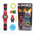 NINJAGOE minifigures Super hero ninjago mini Building blocks Original box Watch Bricks Compatible legoe Toys for children gift
