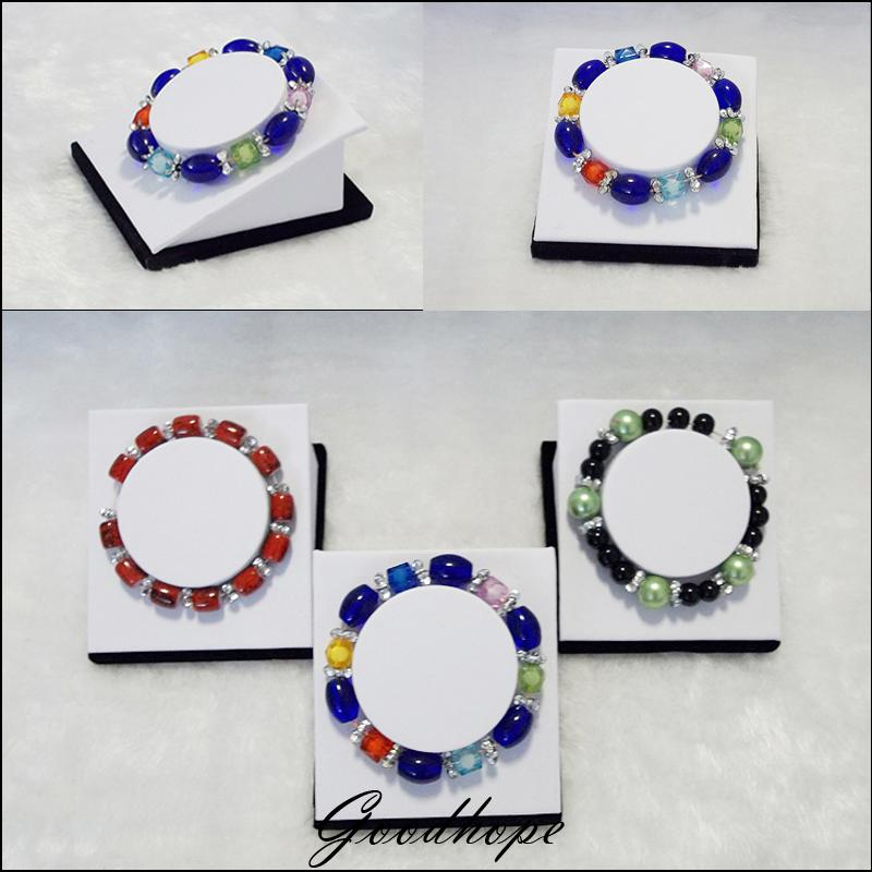 Wholesale 12pcs Pearl Bracelet Jewelry Display Holder Bangle Anklet Chian Link Showing Stand Showcase for Jewellery