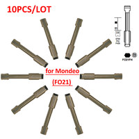 Free shipping (10 pcs/lot)Metal Blank Uncut Flip KD Remote Key Blade Type FO21 for Ford Modeo