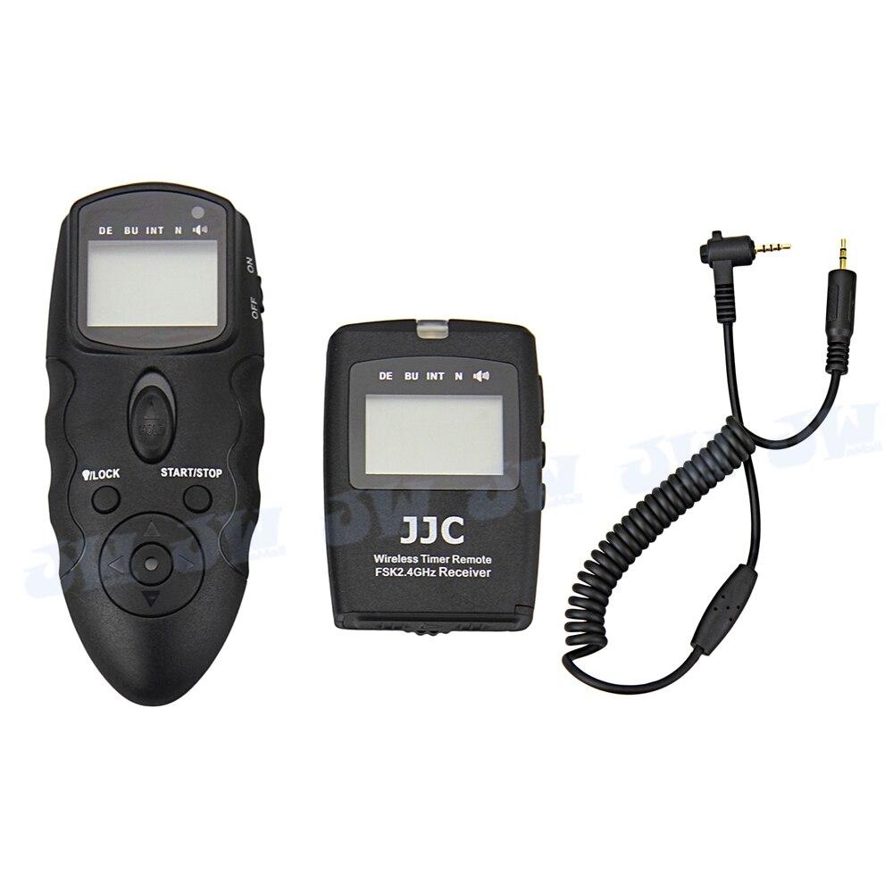 JJC Wireless Multifunction LCD Timer Remote Control For Panasonic DMC-FZ1000 GH4 GX7 GH3 FZ200 FZ150 G7 G10 GH2 as DMW-RS1 RSL1 4pcs 1 4ah dmw blc12 dmw blc12 camera batteries and usb dual charger for panasonic dmc gh2 g5 g6 v lux4 dmc gh2 fz1000 fz200