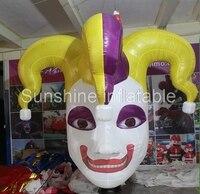 3 м гигантские надувные Хэллоуин украшение висит надувной клоун голову Хэллоуин маска с светодиодные фонари для партии события