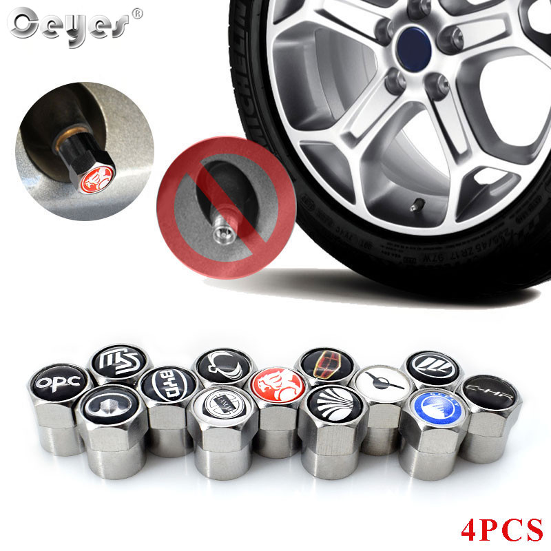 Ceyes Car Styling Accessories Wheel Tire Valve Cap Case For Mazda MS Lifan UAZ Toyota Geely Lancia For Opel Opc Holden Ssangyong