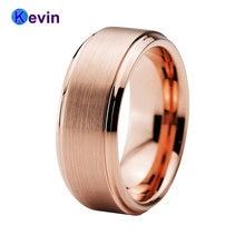 8 мм вольфрамовое обручальное кольцо для мужчин и женщин с скошенным
