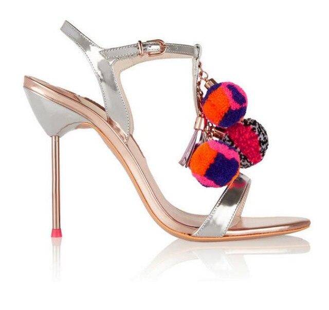 Date Mode Femmes chaussures sandales de luxe Noble Robe Chaussures Pas Cher  Prix Cheville Summer Party 23a363f505d