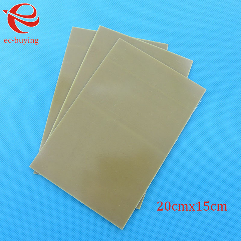 Image 5 - 10pcs/lot Copper Clad Laminate One Single Side Plate CCL 20x15cm 1.5mm FR 4 Universal Board Practice PCB DIY Kit 200*150*1.5mmSingle-Sided PCB   -