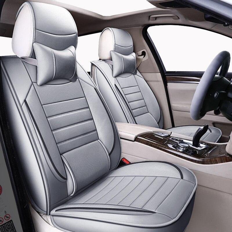 Housses de siège auto universelles en cuir de haute qualité pour Nissan Qashqai Note Murano March Teana Tiida Almera x-trai accessoires auto