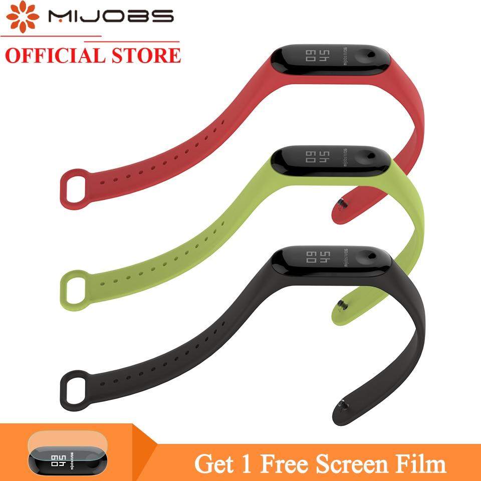 цена на Mijobs Bracelet for Xiaomi Mi Band 3 Smart Watch Silicone Wrist Strap for Xiaomi Mi Band 3 Wristband Miband 3 Smart Accessories