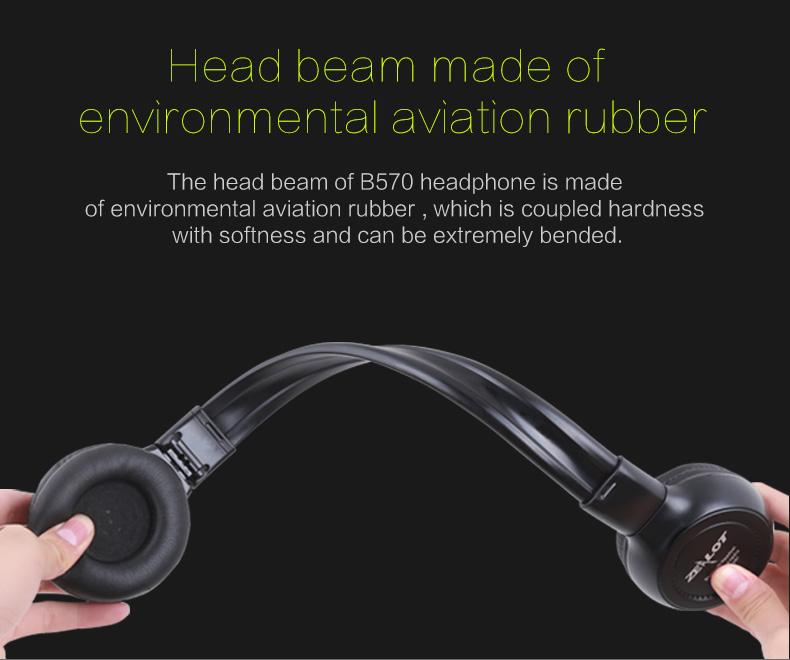 Zealot B570 Earphone Headphone with LCD Screen Bluetooth Headphone Foldable Hifi Stereo Wireless Headset FM Radio TF SD Slot 9
