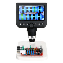 "Digital Microscope 4.3"" LCD 800X Electronic microscopio TV Output 3.0MP usb microscope camera Magnifier with Light and Stand(China)"