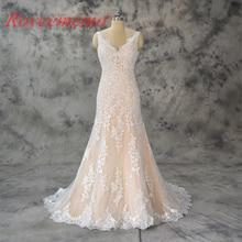 2017 desain baru champagne dan gading wedding dress top merek gaun pengantin custom made pabrik harga grosir gaun pengantin