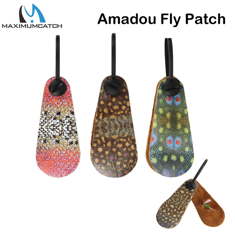 Maximumcatch Natural Amadou Fly Drying Patch High Absorbing Fishing Accessory