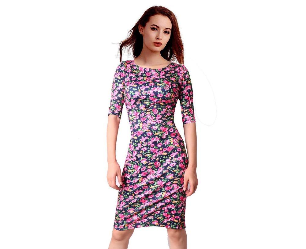 HTB1vBfzSFXXXXaVapXXq6xXFXXXn - FREE SHIPPING Women Dress Floral Print JKP199
