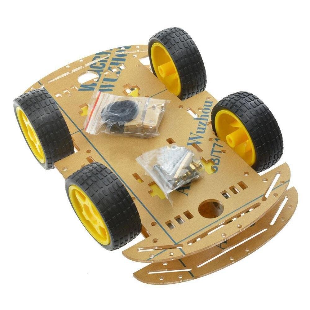 LCLL-NEW 4WD Robot Smart Auto Chassis Kits auto mit Drehzahlgeber für Arduino M26